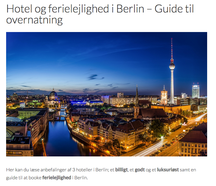 hotel berlin tyskland-rejser.dk